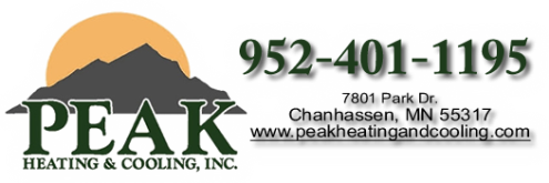 Peak Heating & Cooling Inc. 7801 Park Drive Suite B Chanhassen, MN 55317 - Phone: (952) 401-1195