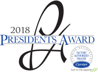 Peak Heating & Cooling Inc. is a winner of the 2018 Presidents Award.