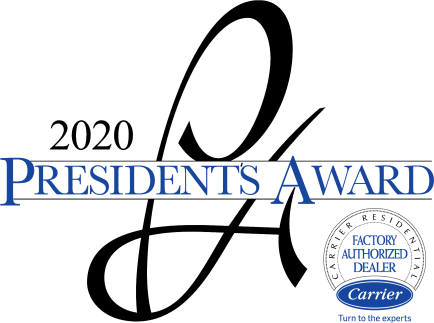 Peak Heating & Cooling Inc. is a proud recipient of Carrier's Presidents Award